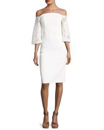 Malin+Off-the-Shoulder+Dress,+Palais+Royale+by+Black+Halo+at+Neiman+Marcus.