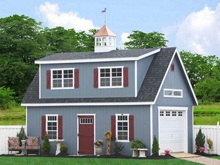 Prefab two story garage buildings--cool! Art Studio & small living ...