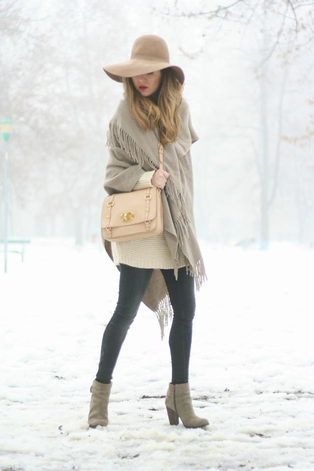 Shop this look on Kaleidoscope (coat, hat, bootie, purse)  http://kalei.do/WWiGqYIeDvrIJ6lZ