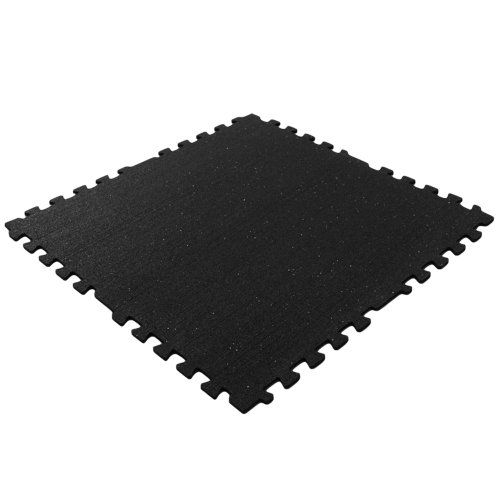 "Rubber-Cal ""Z-Cycle Tiles"" Interlocking Rubber Mats - 3/8 x 28.5 x 28.5-inches - Black with small White Speckles - Protective Flooring - 4pack, 22.5 sqr/ft coverage - http://workoutprograms.net/rubber-cal-z-cycle-tiles-interlocking-rubber-mats-38-x-28-5-x-28-5-inches-black-with-small-white-speckles-protective-flooring-4pack-22-5-sqrft-coverage/"
