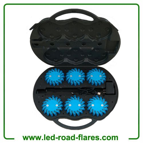 Rechargeable Led Road Flares 6 Packs Blue LED Road Flares are of Exclusive Options for Car Owners/Drivers that should be prepared for unavoidable problems like flat tire, breakdown, and minor accidents.The Flashing Led Road Flares is used as a warning light to instantly warn drivers to slow down and protect yourself and your family from speeding or distracted drivers.  Led Road Flares is a lighting option specifically designed to be mounted onto emergency, construction, or work vehicles. Led…