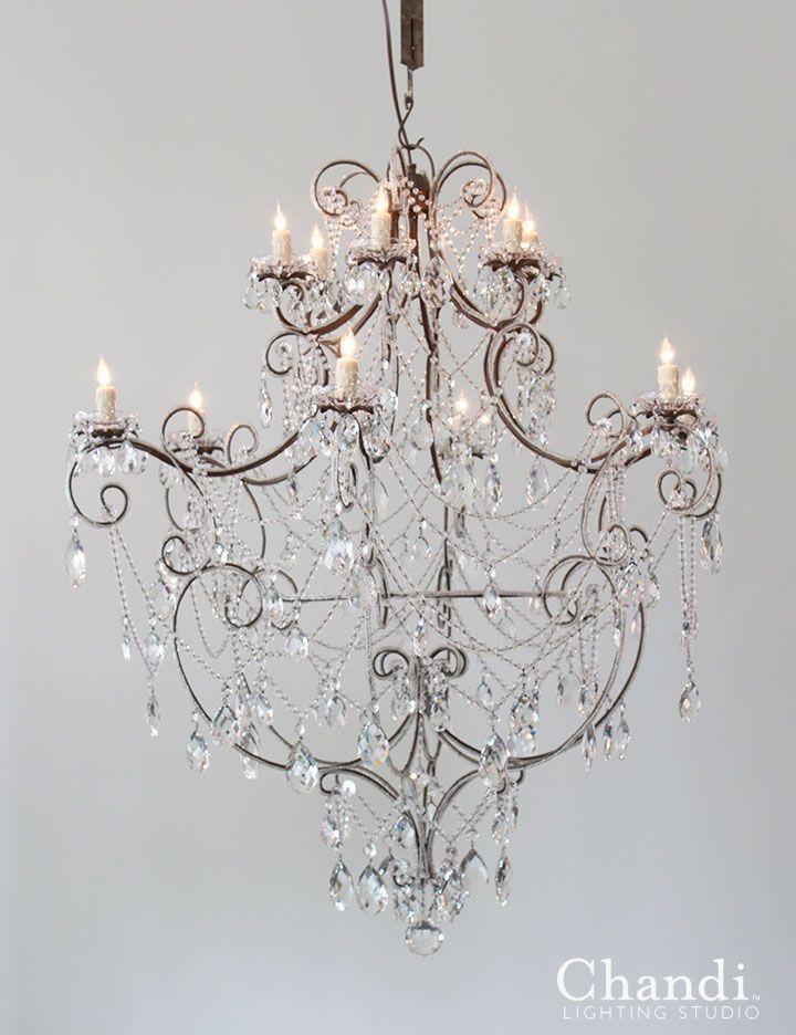 Aurora Chandi Lighting Custom Chandelier Shabby Chic Furniture