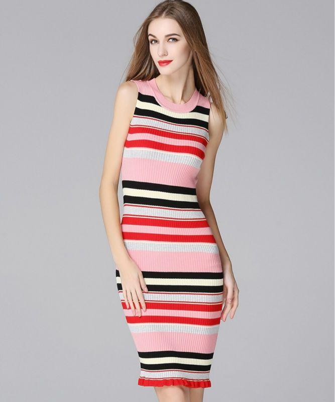 Мода украина женщин свитер полосы бутик одежды дамы свитера сексуальные платья тонкий длинный жилет alibaba выражать одежда великобритании