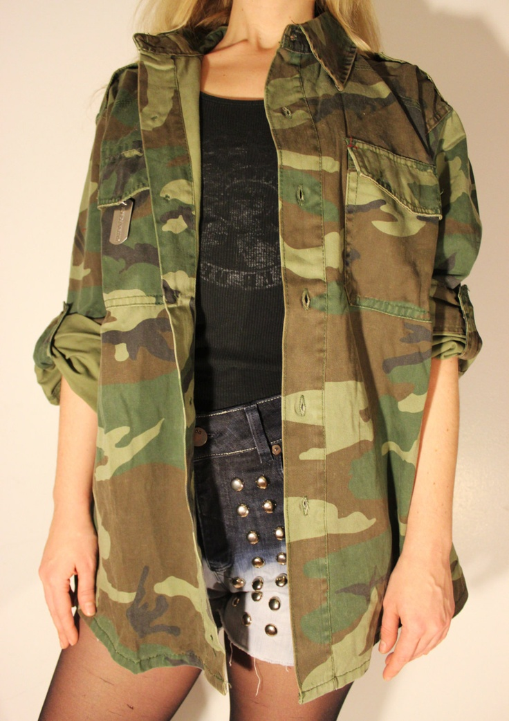 Army Fatigue Womens Jacket