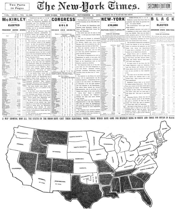 US Elections results (1896)