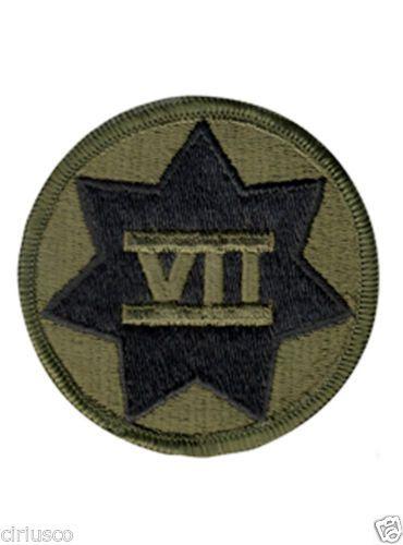 U s Army 7th Corps Subdued Military Unit Designation Insignia Patch | eBay