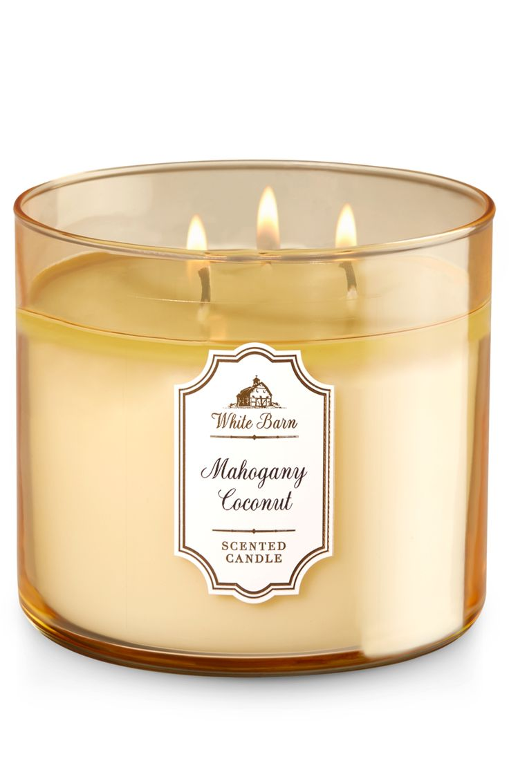 Mahogany Coconut 3-Wick Candle - Home Fragrance 1037181 - Bath & Body Works