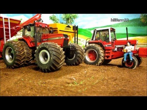 RC TRACTOR pulls 2 giant grain trailer - rc toys in action - YouTube