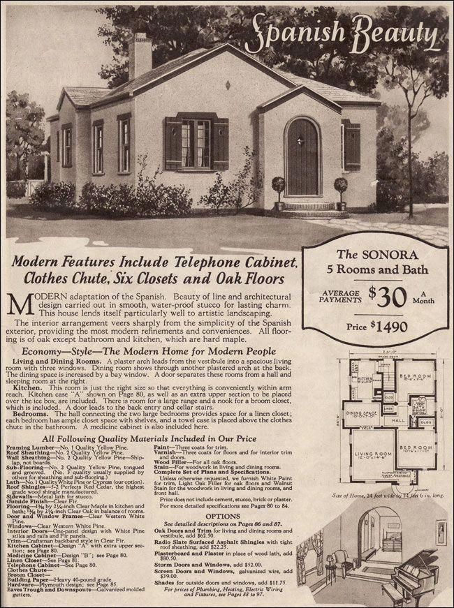 1930 Montgomery Ward Sonora 1490 Dollars In 1930 Is Less Than 20 Thousand Today Think You Could Buy A House With 20000 Dollars Spanishstylehomes