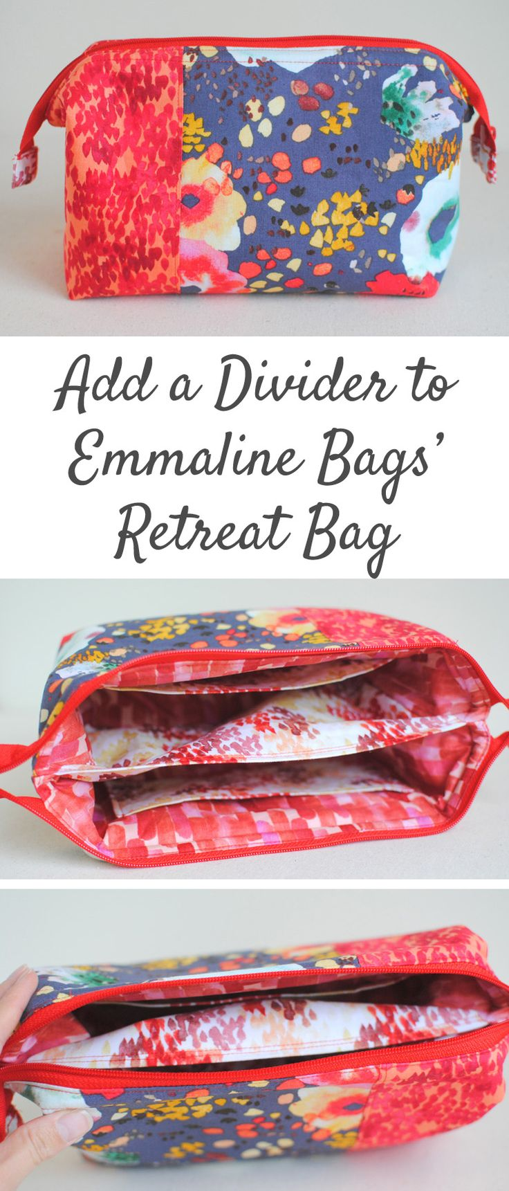 Clover & Violet — Add a Divider to Emmaline Bags' Retreat Bag {Tutorial}