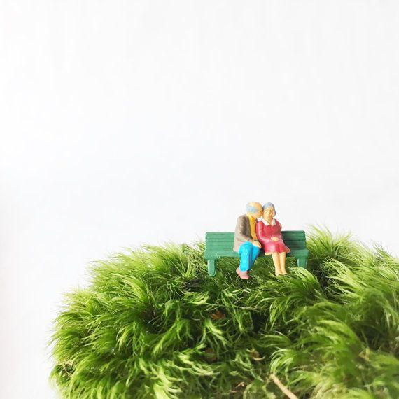 Bench kiss terrarium figurine Terrarium by TierraSolStudio on Etsy