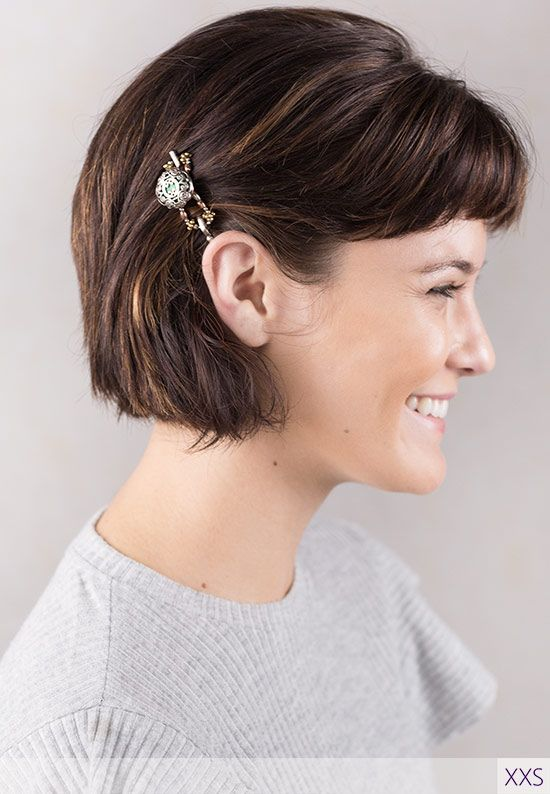 Cute short hairstyle with beautiful Celtic inspired Cliona