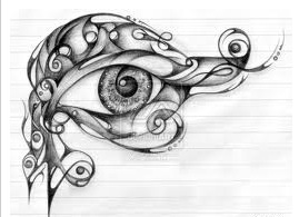 The EYE OF HORUS has a very specific meaning. The eye is represented as a figure with 6 parts. These 6 parts correspond to the six senses - Touch, Taste, Hearing, Thought, Sight, Smell. These are the 6 parts of the *eye*. The eye is the receptor of *input*. It has these six doors, to receive data.- not sure of placement