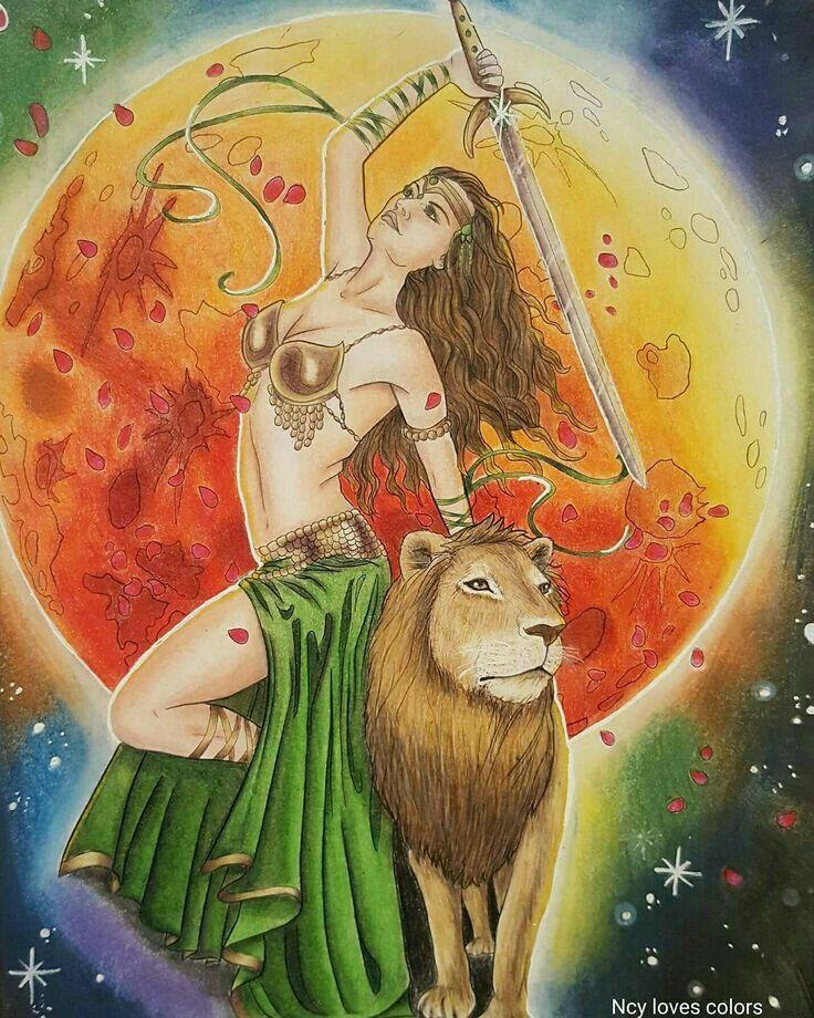 Göttin Ishtar  Buch: Goddess and Mythology  Illustratorin: Selina Fenech  Von mir koloriert. ☺