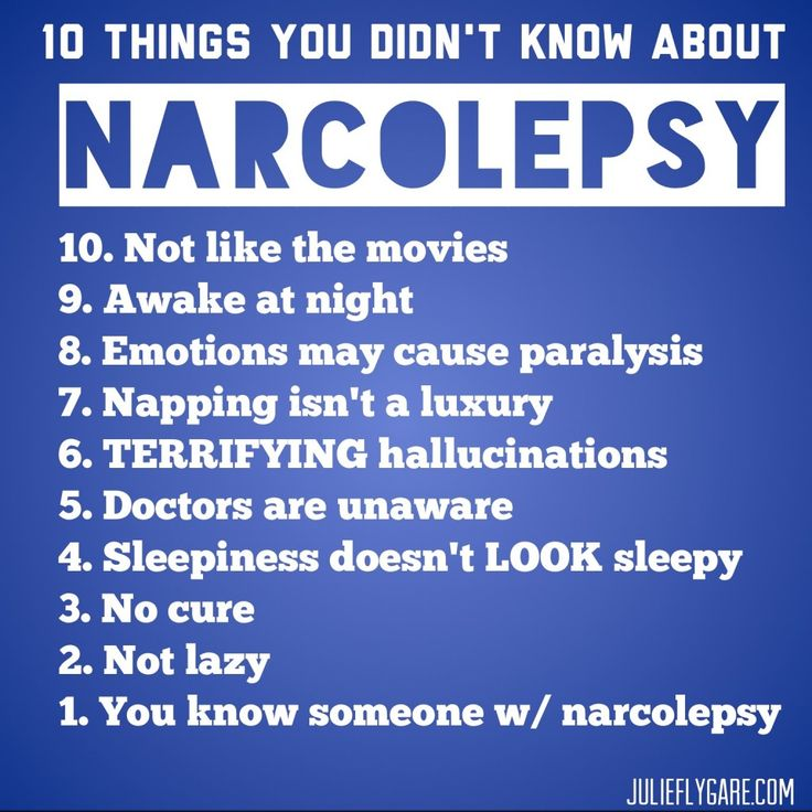 Top ten things you didnt know about narcolepsy list julie flygare narcolepsy spokesperson