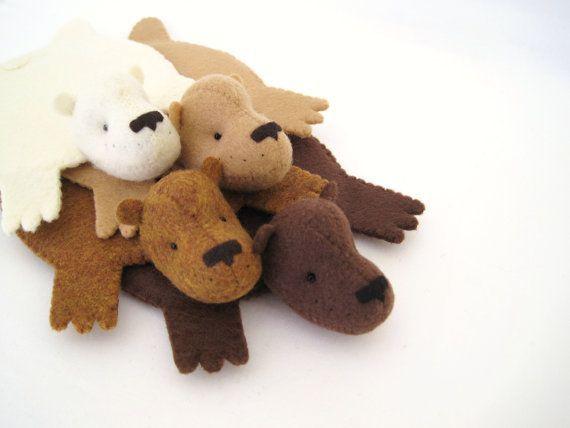 Bear Rug Coaster (Set Of Four)