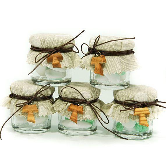 Barattolini di confetti come bomboniera per Prima comunione by Sadia: