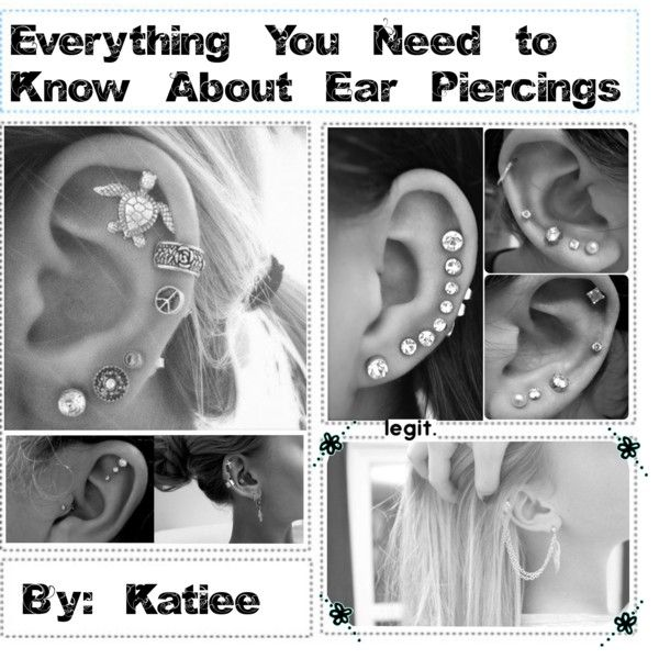 Information about your ear lobe, cartilage, and tragus piercings♔