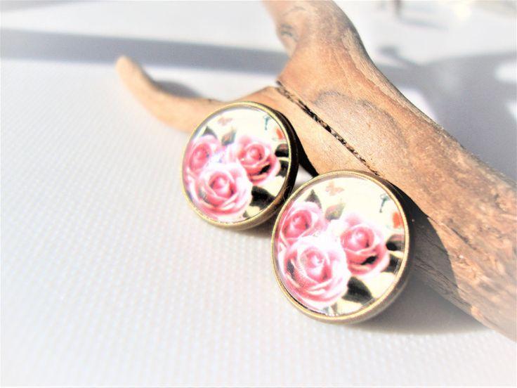 Z różanego ogrodu - MargotArt - Kolczyki wkrętki