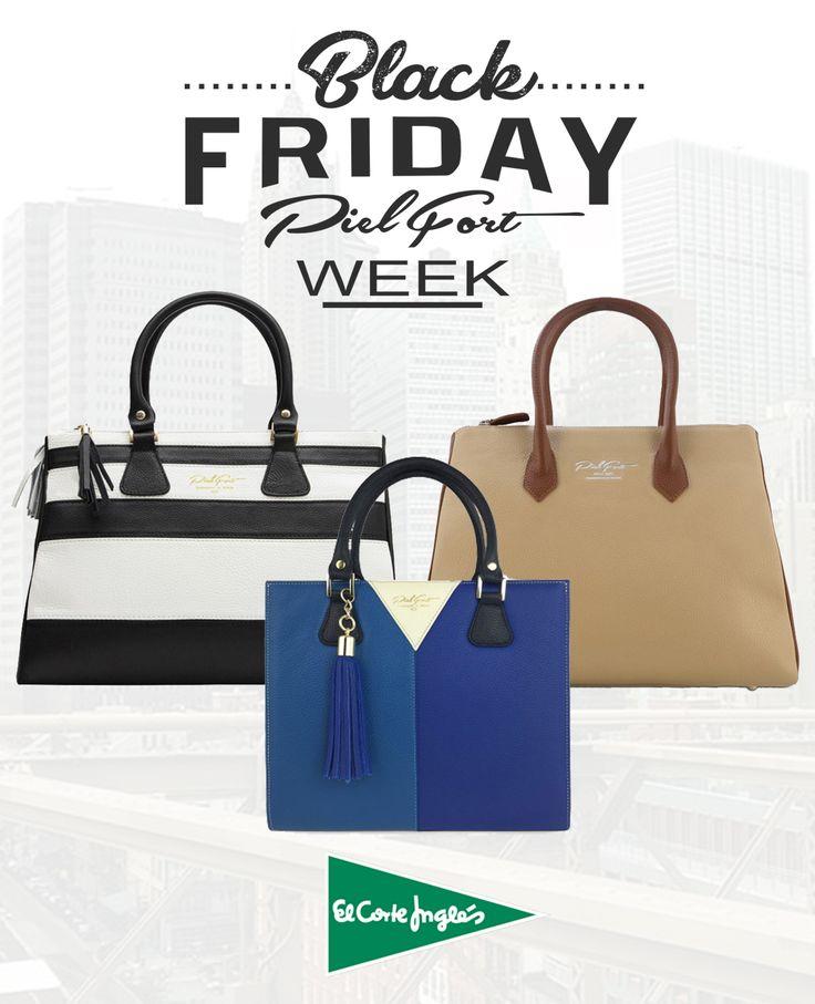 Sólo esta semana Black Friday con bolsos originales PielFort en El Corte inglés. Recibe tu bolso en 48 horas con diploma de autenticidad y numeración individual con un 30% de descuento: