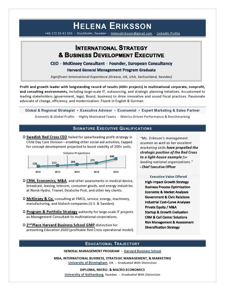 COO Sample Resume Executive resume, Resume writing