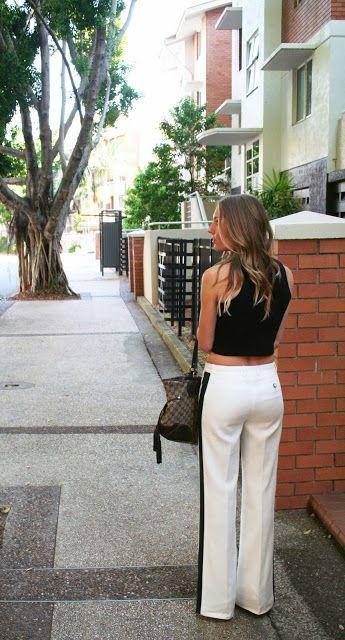 Rachel Zoe Jett Wide-Leg Tuxedo Pants