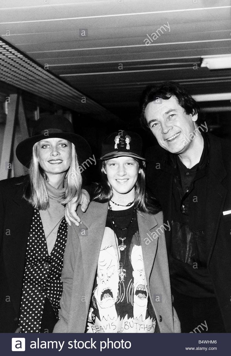 Twiggy Model and Actress with daughter Carly and husband actor Leigh Lawson pictured after flying into Heathrow Airport from Los Stock Photo