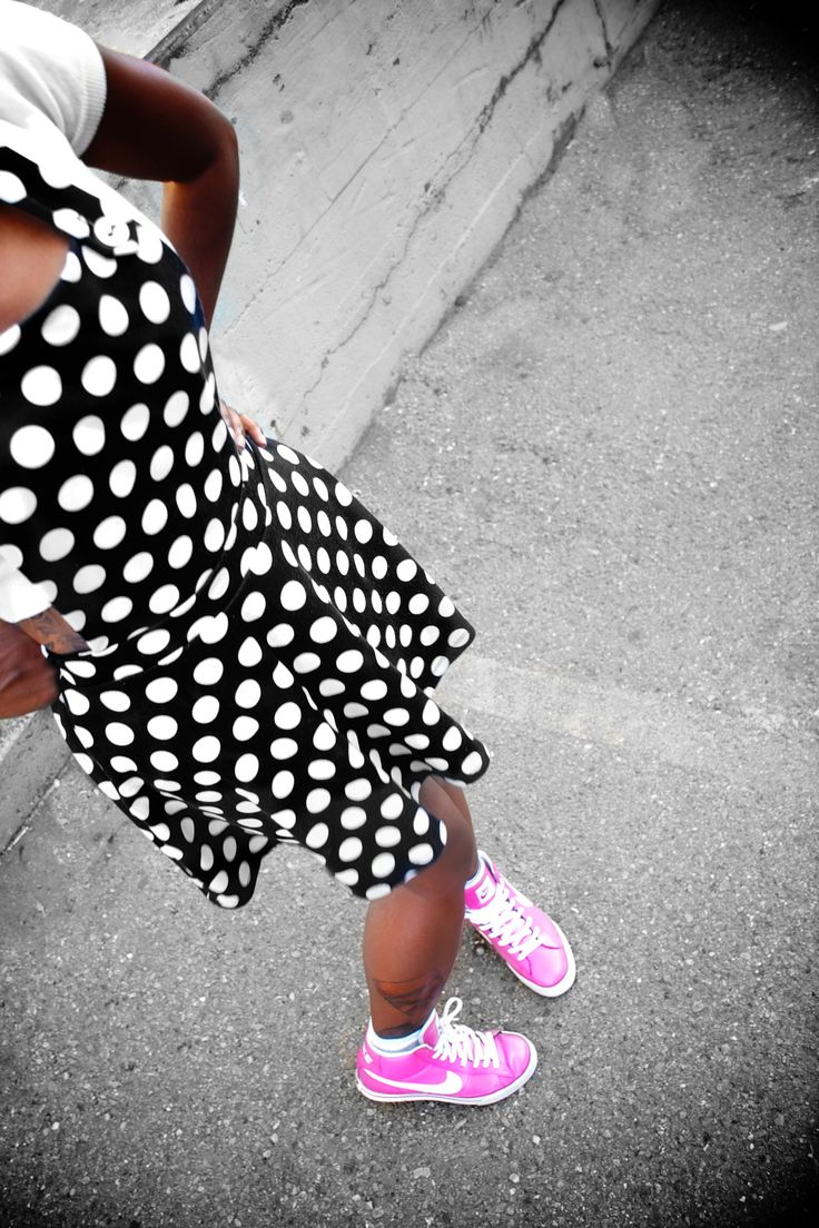 Polkadots  and pin top nikes