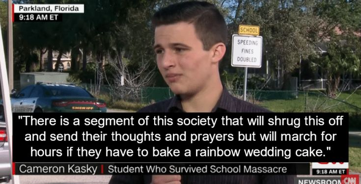 Survivor Slams GOP Politicians For Thoughts And Prayers - Well said: Florida school shooting survivor demands action on guns while blasting GOP politicians for sending thoughts and prayers.