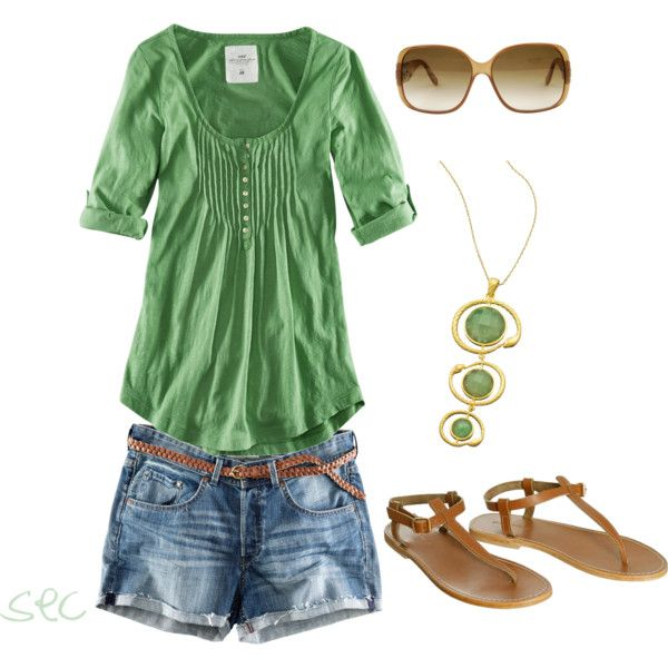 Summer Outfit: Summer Dresses, Summer Fashion, Green Tops, Casual Summer, Clothing, Summer Style, Spring Summ, Summer Outfits, Fashionista Trends