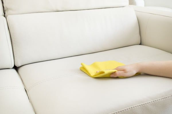 8 Powerful Yet Gentle Ways To Clean A Leather Sofa Remove Oil Stains Microfiber Couch White Leather Couch