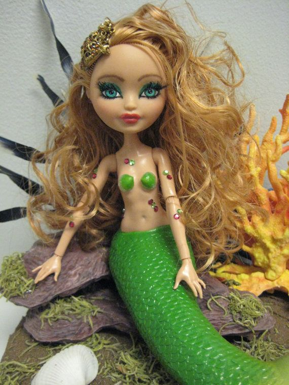 Ooak  Ever After High Ashlynn Ella Mermaid Doll by mybarbieart, $175.00
