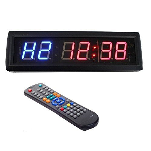 1.8'' LED Interval Workout Timer Countdown Stopwatch For Garage CrossFit Training -- Details can be found by clicking on the image.