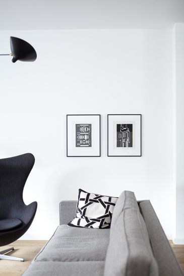 my scandinavian home: Beautiful monochrome and wood spaces by Janne Peters