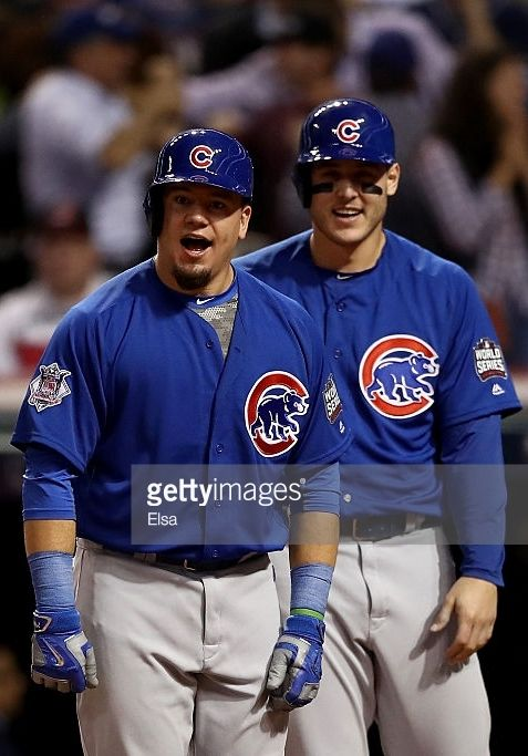Kyle Schwarber,Anthony Rizzo,CHC//Nov 1 ,2016 World Series Game 6 at CLE
