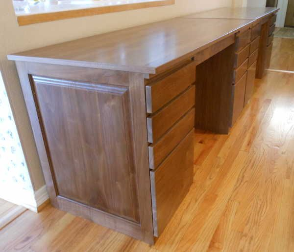 Two Person Desk For Office..like All The Drawer Space And The Two Knee