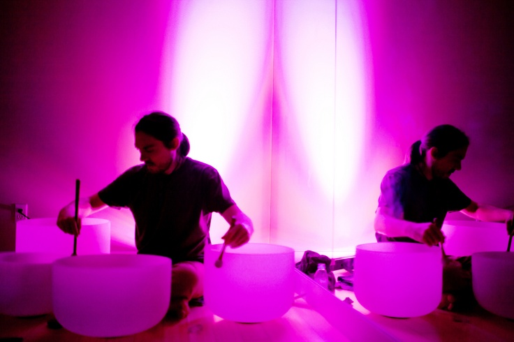Crystal Bowl Sound Healing with Darren Hall at #yogatree midtown grandopening
