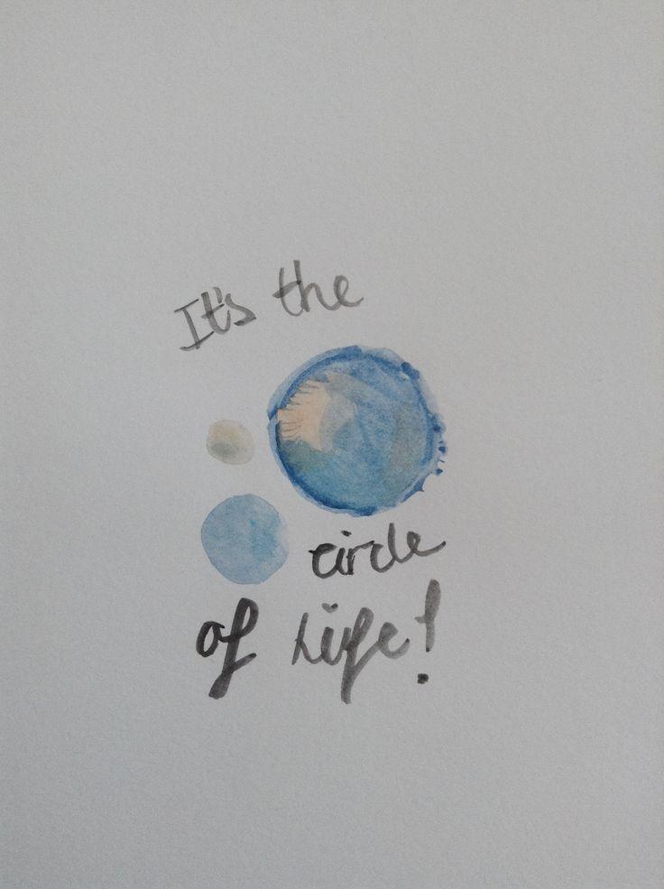 watercolour quote