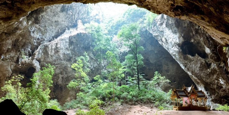 Phraya Nakhon Cave in Khao Sam Roi Yot National Park Thailand [OC] [3997x2012]