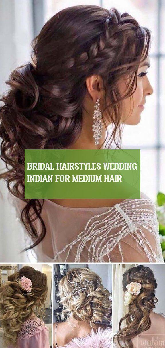 bridal hairstyles wedding indian for medium hair