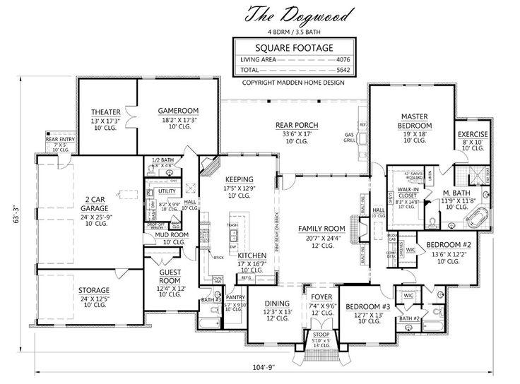 Best 25 acadian house plans ideas on pinterest acadian for Madden house plans