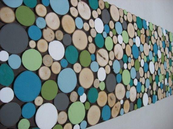 Sliced Wood Wall Art Home Decor Wood Wall Art por ModernRusticArt