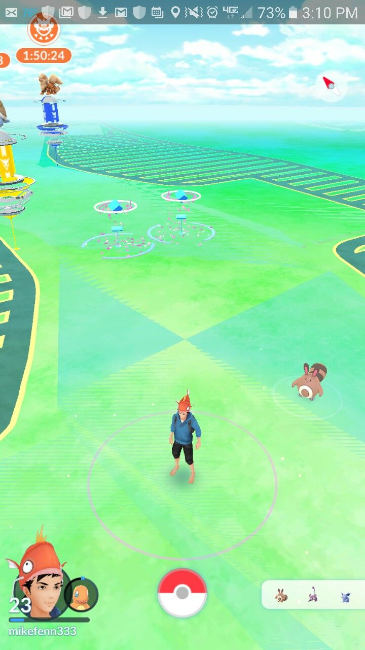 "Philadelphia Mills mall in Northeast Philadelphia, as seen in Pokémon Go. With the popularity of the game waning in 2017,""lure"" dropped at Poke Stops to attract nearby Pokémon was becoming less and less common. Here, lure was found at two places in the mall: Starbucks Coffee and Sprint cell phone store, both of which are corporate Poke Stops nearly everywhere."
