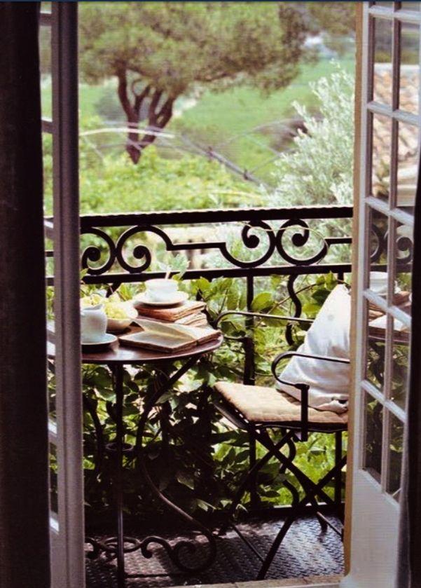 Book and coffee in veranda
