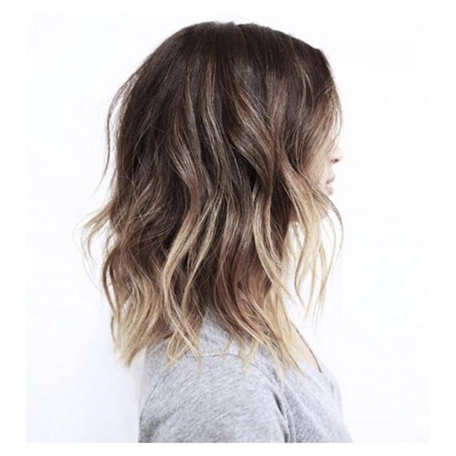  L O B   #hairinspiration #balayage #lob #sombre #ombre #balayage #picture from #pinterest
