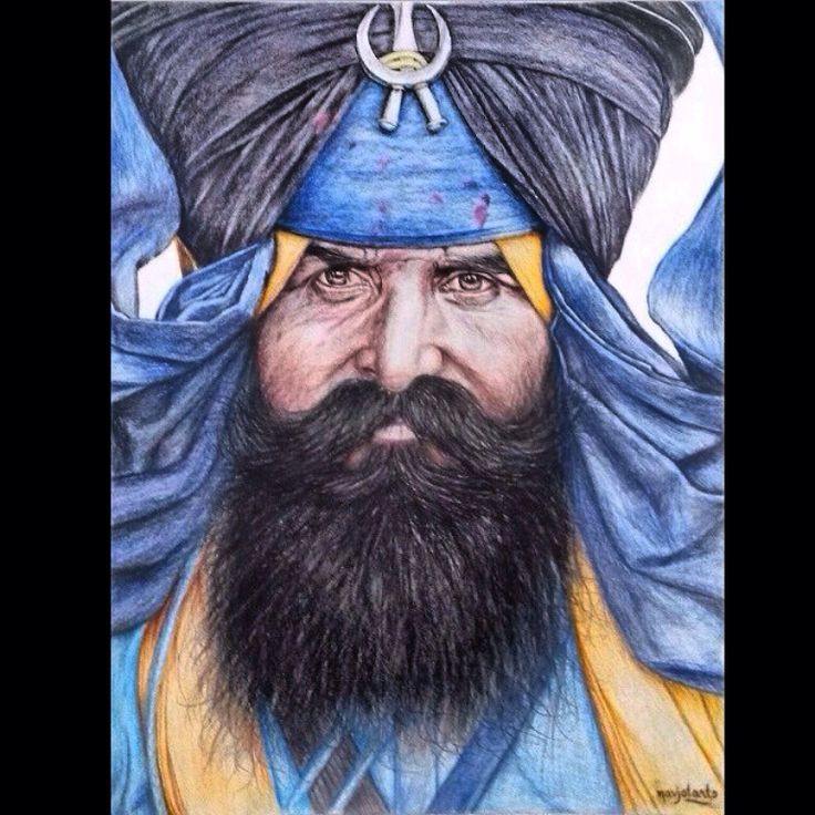 """""""NIHANG SINGH"""" Guru Ki Fauj.  Beautiful sketch drawing by Navjot Arts. @imnavjotarts --- Nihangs are the vanguards of the Sikh nation as a prestigious and highly admired Sikh order that has played a pivotal role in Sikh history. They have been at the front lines, even when outnumbered and facing enormous odds.  """"nirbhau hoeiou bheiaa nihangaa Being fearless, he becomes a 'Nihang' (bold and daring person)  #sikh #sikhism #nihung #punjab #sikhart"""