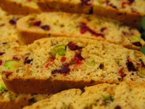 Biscotti, Pistachios and Cranberries on Pinterest