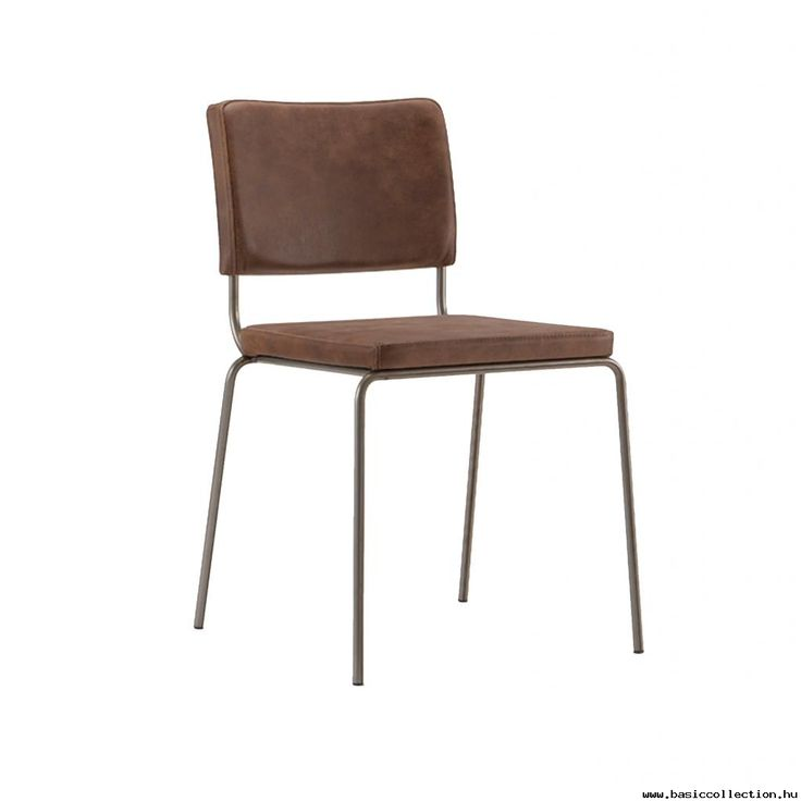 Braun upholstered chair #basiccollection #upholsteredchairs #chair #steelframe