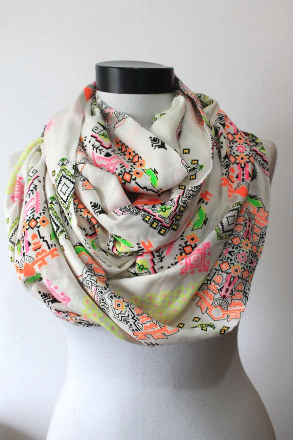 tribal scarfprint scarflong by starshopboutique on Etsy