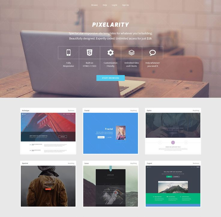 A collection of 60+ responsive HTML5/CSS3 site templates, flexibly licensed and available for download with the purchase of a subscription.